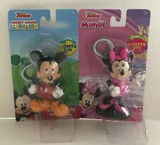 DISNEY JUNIOR CLUBHOUSE MICKEY & MINNIE LITTLE LIGHT-UP BACKPACK HANGERS