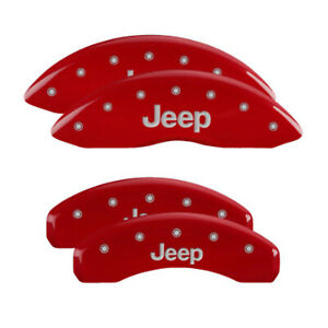 MGP 42020SJEPRD Front/Rear Red Disc Brake Caliper Covers for Jeep Grand Cherokee