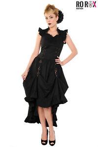 Banned Black Gothic Dress Corset Steampunk Copper Victorian Vintage Fancy Lace