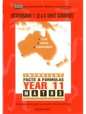 Facts & Formulas: Year 11 Extension 1: Year 11 Maths : 2 & 3 Unit Preliminary...