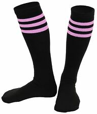 Mato & Hash Knee High Three Stripe Athletic Referee Tube Socks Made In USA