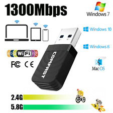 1200Mbps USB3.0 Wireless WiFi Network Receiver Adapter 5GHz Dual Band Dongle PC
