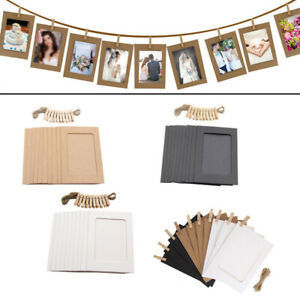 10PCS DIY Paper Photo Frame Wooden Clip Paper Picture Holder Wall Decoration New