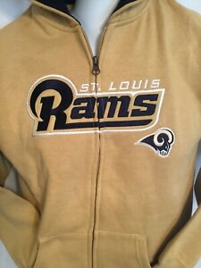 NFL Team Apparel St. Louis Rams Gold  Zip up Jacket/Hoodie Youth Large NWT