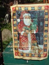 "Country Santa House Flag 25"" x 37"" Double sided Flag"