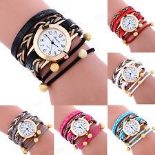 Womans Fashion Bracelet Watch Wrap Weaving Around Lady Casual Dress WristWatches