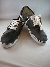 Aeropostale Mens  Canvas Distressed Black  Lace Up Sneakers Shoes Size 9 New