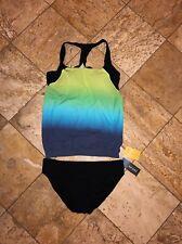 Profile By Gottex Women/'s Black Multi Color Royal Peacock Swim Skirt 3937 Sz 8