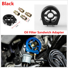 M20 x 1.5 Car Auto Oil Filter Relocation Sandwich Plate Adapter Kit Black 1Pcs