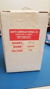 NORTH AMERICAN SIGNAL CO. 120V DOME (AMBER) EFL1-A *NEW IN BOX*