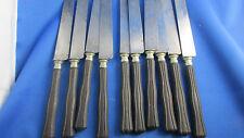 10 anciens grands couteaux lame acier manche bois spatule epoque 1900  tartiner
