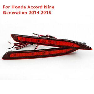 L & R LED Rear Bumper Lights Assembly For Honda Accord Nine Generation 2014-2015