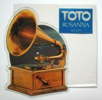 Near Mint NM Toto Rosanna Shaped Vinyl Picture Pic Disc