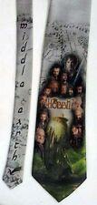L@@K! The Hobbit Necktie -  J.R.R. Tolkien Bilbo Baggins Smaug Dwarf Gandalf