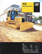 2001 Caterpillar D3G Track Tractor 23 Page Brochure