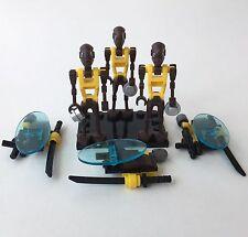 "Lego Star Wars 3x Custom ""Citadel"" Commando Droid + Rucksack, Blaster & Schwert"