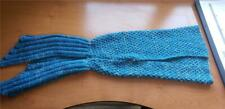 """Mermaid Tail Blanket - Blue/white - Small Toddler Size- 26"""" long, 10"""" opening"""