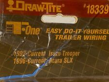 Draw-Tite 18339 Trailer Connector Kit, ISUZU TROOPER, ACURA SLX, NEW