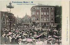 Minden Kreis Minden-Lübbecke Freischießen Aufmarsch der Bürger-Compagnie AK 1905