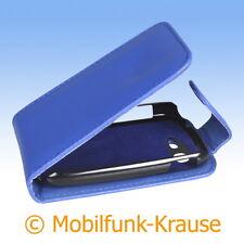 Flip Case Etui Handytasche Tasche Hülle f. Samsung Galaxy Star Duos (Blau)