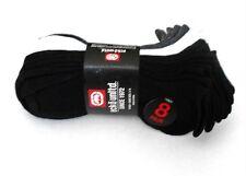 Ecko Unltd Boys Sock Shoe Size 3-9 Low Cut 8 Pairs Black White Grey Cushion Sole
