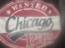 "ROBIN RUTH ""WANTED CHICAGO MORE THAN A CITY BAG"" SHOULDER CANVAS BAG NEW DK SILV"