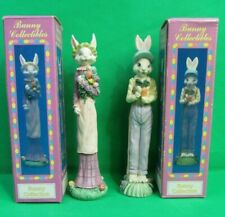 World Bazaars Resin Tall Bunny Collectibles Figures - Set of 2