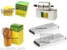 OEM Service Kit Oil Air Fuel Cabin Pollen 4x Filter Filters Mann Audi A6 C6 2.4