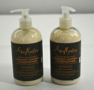Shea Moisture African Black Soap Dandruff Control Conditioner 13 oz 2 Pack