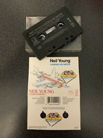 NEIL YOUNG - LANDING ON WATER (UK CASSETTE TAPE)