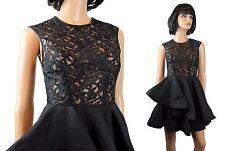 1f89a84023 NWT Angel Biba Dress XS Black Sheer Embroidered Sleeveless Gown Asymmetric  Hem