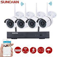 4Ch 960P Outdoor Network Hd Wireless Security Camera System Wifi Nvr Kits Night