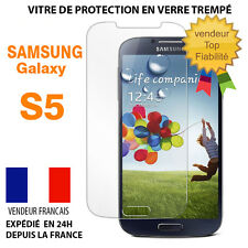 Vitre protection film protecteur d'écran en VERRE TREMPE pour Samsung Galaxy S5