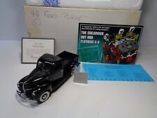 New listing Franklin Mint 1940 Ford Pickup Docs + Brochure Painted On Whitewalls Nice Truck