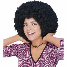 Adult 60s 70s Black Afro Fro Disco Wig