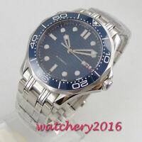 41mm BLIGER Blau Dial Datum Leuchtzeiger Saphirglas Automatisch men's Watch