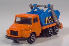 """Majorette 222 Multi Benne Skip Truck 2.75"""" 1:100 Scale Model France Dumpster"""