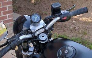 TACHIMETRO CONTACHILOMETRI 60 MM 200 KM/H SPIE LED REPLICA BMW NERO PER MOTO