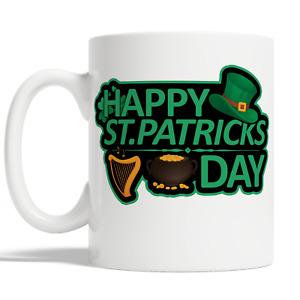 Happy St Patricks Day Mug Coffee Cup Gift Idea Irish Lucky Man Woman Kid JA89