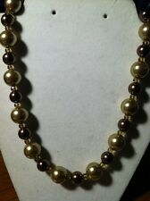 Charter Club Gold Tone Pearl Round Necklace Retail 42.50