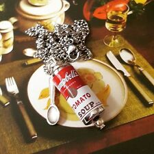 Unique ZUPPA DI POMODORO CAMPBELL'S Collana confuso Dolly Cucchiaio fascino POP ART Warhol