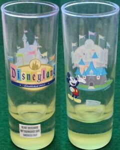 "DISNEY Disneyland  Est 1955 Mickey Castle 4"" SHOT GLASS Cordial Shooter Barware"