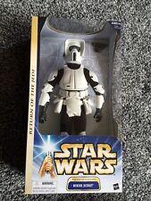 "Star Wars BIKER SCOUT TROOPER 12"" NIB VHTF Return of the Jedi BATTLE OF ENDOR"