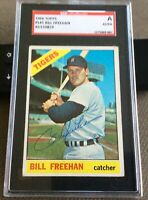 1966 Topps Bill Freehan SGC Signed Autograph Card Detroit Tigers 1968