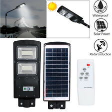 Parking Lot Led Solar Street Light 8000LM Dusk to Dawn Timing Control Waterproof
