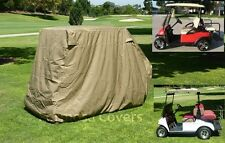 """Golf Cart Storage Cover for 4 Passenger with 2 Seater roof up to 58"""" L  Taupe"""