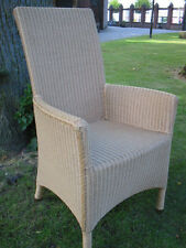 Armlehnstuhl aus Loom exklusiv mit Rattangestell