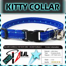 Safety  CAT KITTEN  Breakaway Collar ~ BLUE TEAL DOTS ~