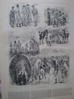 A Day at Beckton Hall 1883 old print and article