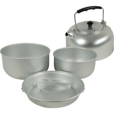 TF Gear New Eco cooking set - large. 3lt & 2lt pots, fry pan, kettle.